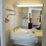 Image of suite bedroom sink at Bluegrass Extended Stay