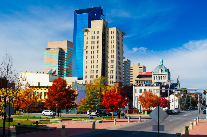 Image of downtown Lexington, KY free things to do in Lexington