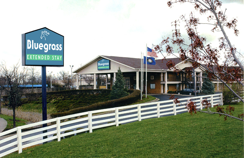 image of exterior of bluegrass Extended Stay