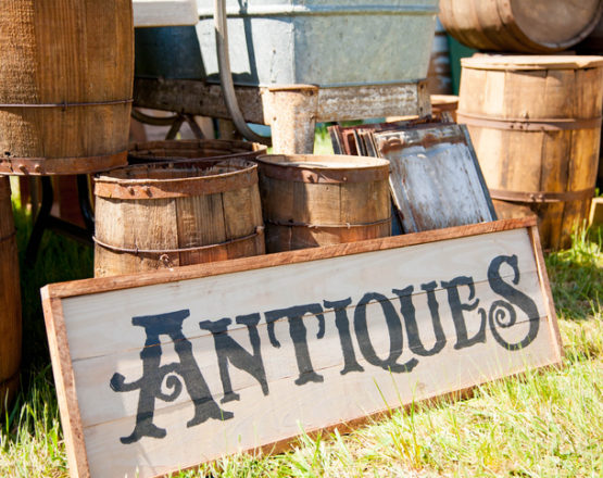 Image of an antique sign